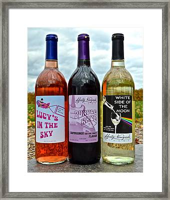 Classic Rock Classic Wine Framed Print by Frozen in Time Fine Art Photography