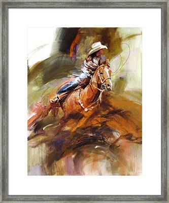 Classic Rodeo 6 Framed Print by Maryam Mughal