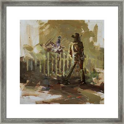 Classic Rodeo 9b Framed Print by Maryam Mughal