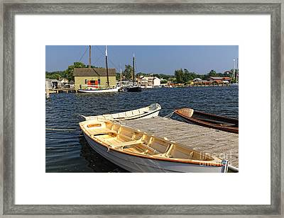 Classic Row Boats Framed Print by George Oze
