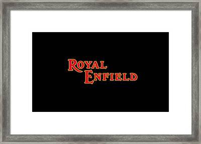 Classic Royal Enfield Phone Case Framed Print by Mark Rogan