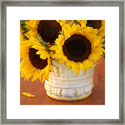 Classic Sunflowers Framed Print by Art Block Collections