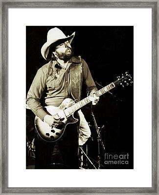 Classic Toy Caldwell Of The Marshall Tucker Band At The Cow Palace-new Years Concert  Framed Print