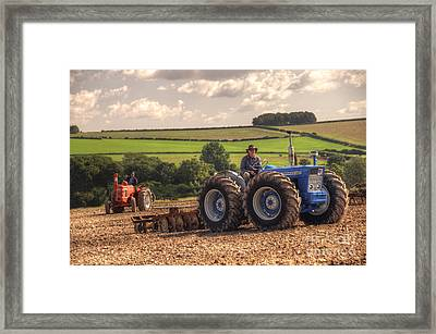 Classic Tractors At Work  Framed Print by Rob Hawkins