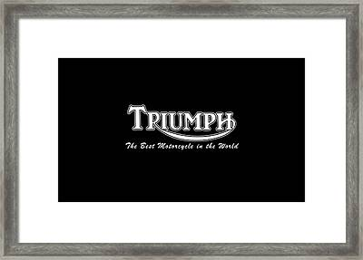 Classic Triumph Phone Case Framed Print by Mark Rogan