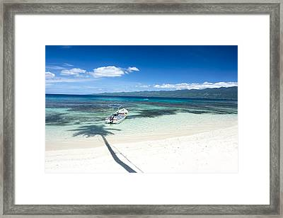 Classic Tropical Beach Framed Print