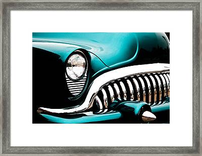 Classic Turquoise Buick Framed Print