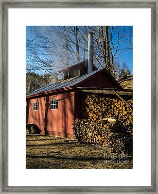 Classic Vermont Maple Sugar Shack Framed Print