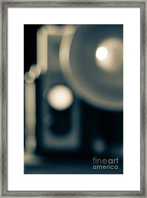 Classic Vintage Camera Blur Framed Print by Edward Fielding
