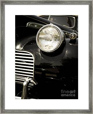 Classic Vintage Car Black And White Framed Print by Edward Fielding
