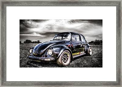 Classic Vw Beetle Framed Print by Ian Hufton
