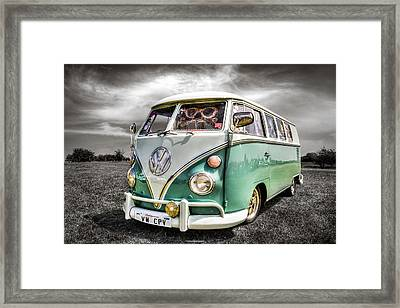 Classic Vw Campavan Framed Print by Ian Hufton