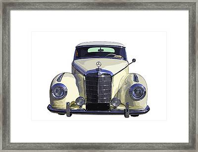 Classic White Mercedes Benz 300  Framed Print by Keith Webber Jr