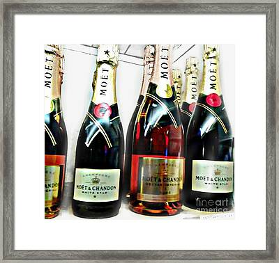 Classic Wine Shindig Framed Print by PrettTea Art Gallery By Teaya Simms