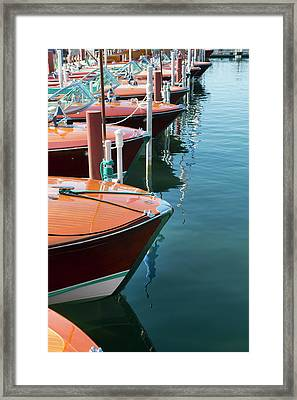 Classic Wooden Boats Framed Print by Jenniferphotographyimaging