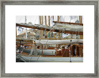 Classic Wooden Sail Boats Framed Print