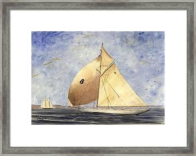 Classic Yacht Barcelona Framed Print