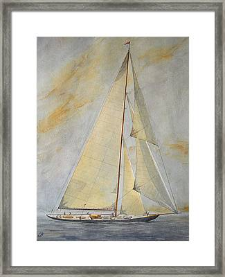 Classic Yacht Framed Print