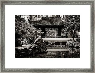 Classical Chinese Garden Il Framed Print