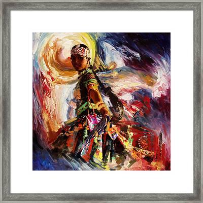 Classical Dance Art 13 Framed Print by Maryam Mughal