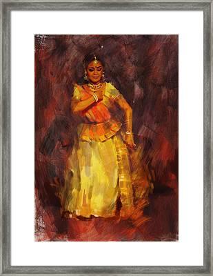 Classical Dance Art 18 Framed Print by Maryam Mughal