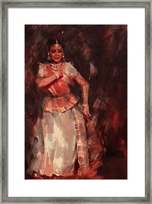 Classical Dance Art 18b Framed Print by Maryam Mughal