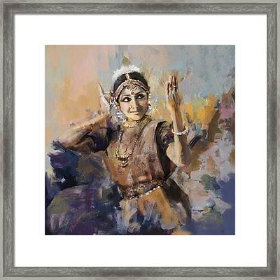 Classical Dance Art 3 Framed Print by Maryam Mughal