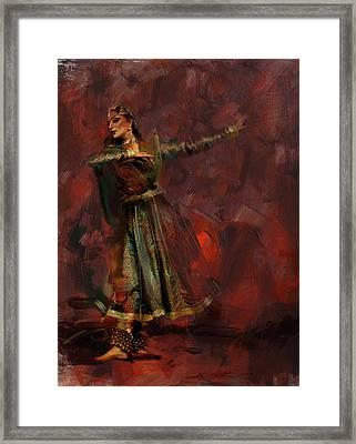 Classical Dance Art 7 Framed Print by Maryam Mughal