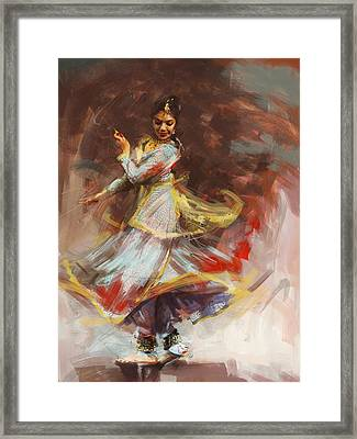 Classical Dance Art 8 Framed Print by Maryam Mughal
