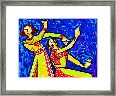 Classical Dancers Framed Print by Anand Swaroop Manchiraju
