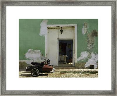 Classical Dining For Two.. Framed Print by A Rey