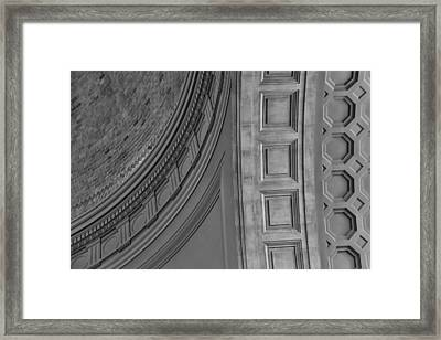 Classical Dome And Vault Detail Framed Print by Lynn Palmer