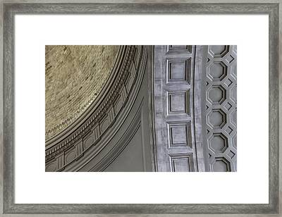 Classical Dome And Vault Details Framed Print by Lynn Palmer