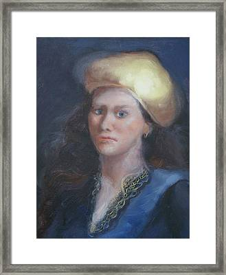 Classical Gaze Framed Print by Patricia Kimsey Bollinger