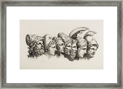 Classical Heroes And Heroines Framed Print by British Library