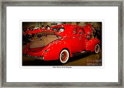 Classically Orange Framed Print