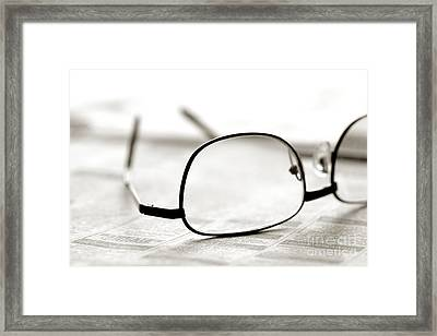 Classified Section Framed Print