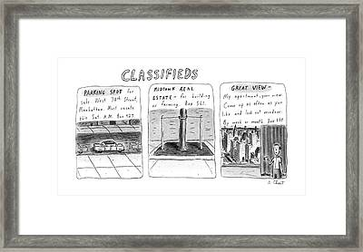 Classifieds Framed Print