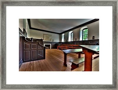 Framed Print featuring the photograph Classroom Wren Building by Jerry Gammon