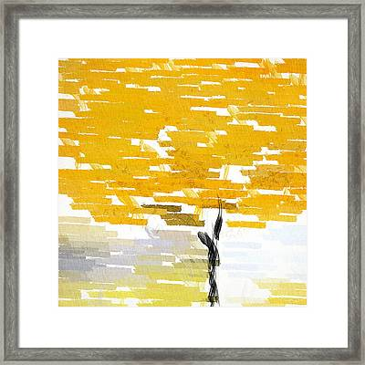 Classy Yellow Tree Framed Print by Lourry Legarde