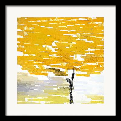 Browns And Golds Framed Prints