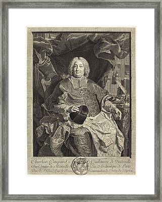 Claude Drevet After Hyacinthe Rigaud French Framed Print by Quint Lox