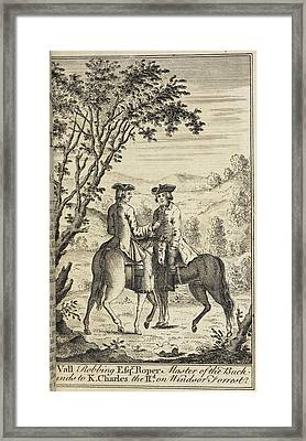 Claude Duval Robbing A Mr Roper Framed Print by British Library