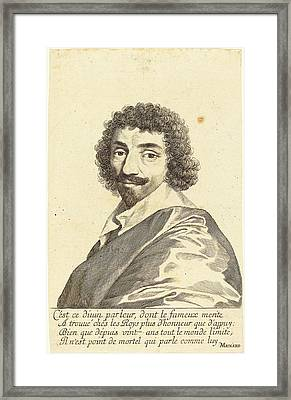 Claude Mellan French, 1598 - 1688, Jean-louis Guez De Balzac Framed Print by Quint Lox