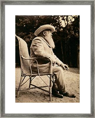 Claude Monet 1840-1926 Bw Photo Framed Print
