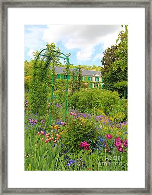 Claude Monet House And Garden At Giverny Framed Print by Heidi Hermes