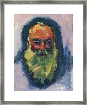 Claude Monet Self Portrait Framed Print
