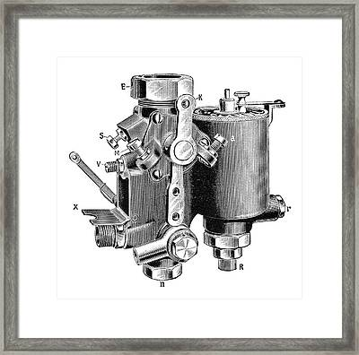 Claudel Carburettor Framed Print by Science Photo Library