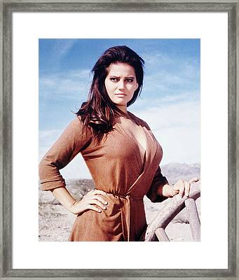 Claudia Cardinale In C'era Una Volta Il West  Framed Print by Silver Screen