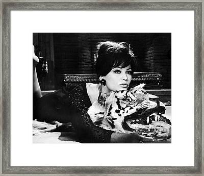 Claudia Cardinale In The Pink Panther  Framed Print by Silver Screen